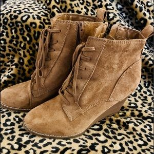 Lace Up Bootie Wedges